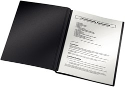 Inbindomslag Leitz ImpressBIND A4 zwart rug 7mm 36-70 vel 10 stuks.