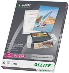 Lamineerhoes Leitz UDT A4 2x125 micron glanzend 100 stuks.