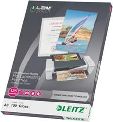 Lamineerhoes Leitz UDT A3 2x125 micron glanzend 100 stuks.