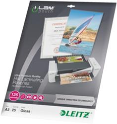 Lamineerhoes Leitz UDT A3 2x125 micron glanzend 25 stuks.