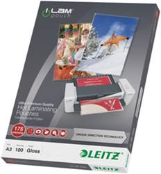 Lamineerhoes Leitz UDT A3 2x175 micron glanzend 100 stuks.