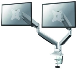 Monitorarm NewStar NM-D750D silver 2 schermen maximaal 32 inch kleur zilver.