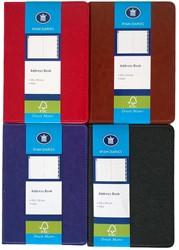 Adresboek Ryam A6 DeLuxe 105 x 150 mm assorti kleuren.