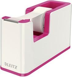 Plakbandhouder Leitz 5364 WOW wit/roze.