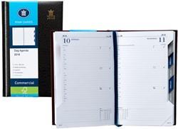 Agenda 2018 Ryam Commercial 1 dag per pagina 11,5x18,5cm 14 maanden met maandtabs omslag zwart wit papier (900093).
