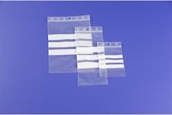 Gripzakje met zelfsluitstrip en schrijfstrook 120x180mm 50 micron 1000 stuks.