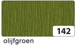 Crepepapier Folia 250x50cm #142 olijfgroen.