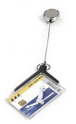 Card holder Durable met afrolmechanisme t.b.v. 1 pas antraciet 10 stuks.