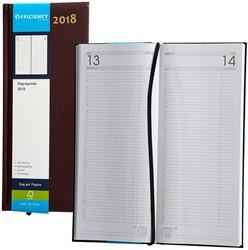 Agenda 2018 Ryam Efficiency lang 1 dag per pagina 14x34cm omslag bordeaux wit papier.