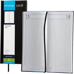 Agenda 2018 Ryam Efficiency lang 1 dag per pagina 14x34cm omslag zwart wit papier.
