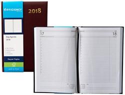 Agenda 2018 Ryam Efficiency 1 dag per pagina 13,5x21cm omslag bordeaux wit papier.