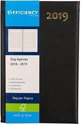 Agenda 2018/2019 Ryam Efficiency 1 dag per pagina A5 18 maanden vanaf juli 2018 omslag zwart wit papier.