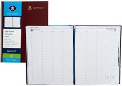 Agenda 2018 Ryam Quintet-7 1 dag per 2 pagina's 23x29,7cm 7 kolommen omslag bordeaux wit papier (900182).
