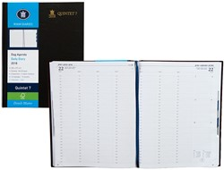 Agenda 2018 Ryam Quintet-7 1 dag per 2 pagina's 23x29,7cm 7 kolommen omslag zwart wit papier (900094).