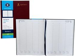 Agenda 2018 Ryam Quintet-4 1 dag per pagina 23x29,7cm 4 kolommen omslag bordeaux wit papier (900187).