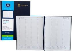 Agenda 2018 Ryam Quintet-4 1 dag per pagina 23x29,7cm 4 kolommen omslag blauw wit papier.