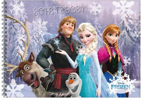 Schetsboek Frozen.