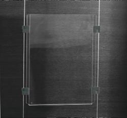 Presentatiesysteem Sigel 'Exposio' SE118 2 acrylplaat 297x95mm, 4 clips.