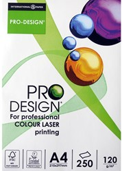 Papier Pro Design A4 120 grams wit voor professionele afdrukken laser en inkjet 250 vel.
