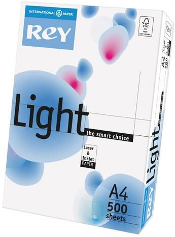 Printpapier Rey Light FSC A4 75 grams wit voor universeel gebruik 500 vel.