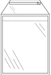 Envelop Direct Sale Transmailer transparant 45micron C5 165x220+40mm met klep 1000 stuks.