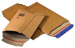 Envelop Wellbox golfkarton 187x272x50mm bruin zelfklevend.
