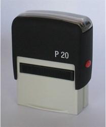 Tekststempel Posta P20 zelfinktend 4 regels maximaal afdrukformaat 38x13mm.