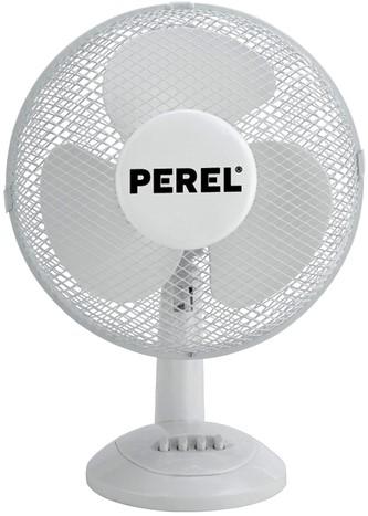 Tafelventilator Perel Ø30cm 40W 3-snelheden wit.