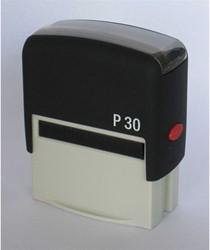 Stempel Posta P30 5 regels maximaal afdrukformaat 47x18mm.