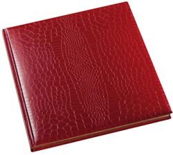 Gastenboek Brepols Belleganza 23,5 x 29,7cm kunstleder omslag met croco nerf in de kleur bordeaux.
