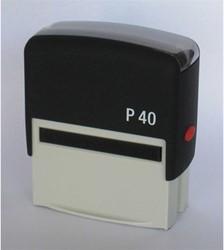 Tekststempel Posta P40 zelfinktend 6 regels maximaal afdrukformaat 57x21mm.