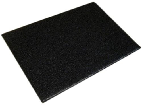 Deurmat Twistermat ideaal voor buiten 60x90cm kleur zwart.