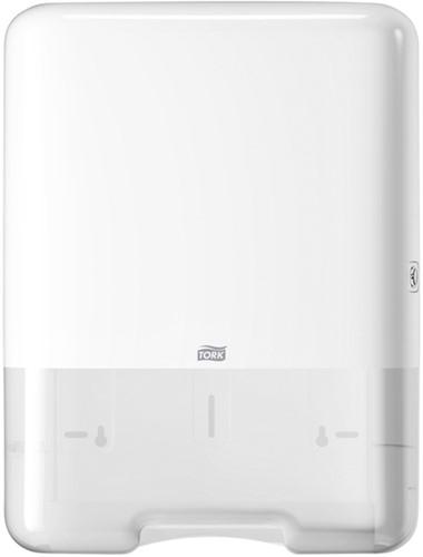 Handdoekendispenser Tork wit systeem H3.