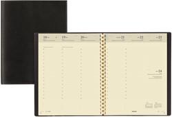 Agenda 2018 Brepols Concorde 7 dagen per 2 pagina's 21x27cm met spiraal omslag zwart creme papier (0.240.2582.01.2.0).