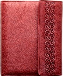 Agenda omslag Succes Senior model Snake - rundleer met een ruitvormige slangenprint in de kleur Sunrise Red - mechaniek: 20mm PS214SN12 (900227).