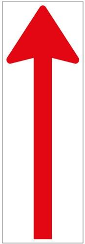Vloersticker pijl rood/wit 300x100mm gelamineerd anti-slip.