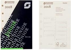 Agenda calendarium 2018 Succes Junior 7d/2 pagina's crèmekleurig in cellofaan XJQ7C.18 (900133).