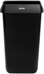 Afvalbak Katrin zwart 25 liter 550x330x230mm kunststof.