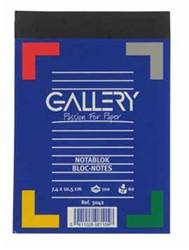 Schrijfblok Gallery A6 - 100 vel 5mm geruit papier.