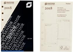 Agenda calendarium 2018 Succes Senior 1 dag per pagina crèmekleurig in cellofaan XSQ1C.18.