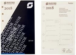 Agenda calendarium 2019 Succes Senior 7d/2 pagina's cremekleurig in cellofaan XSQ7C.19 (900131).