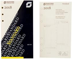 Agenda calendarium 2018 Succes Standard 1 dag per pagina  creme dagbladen in cellofaan XTQ1C.18.