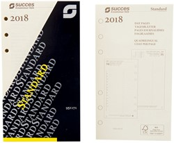 Agenda calendarium 2019 Succes Standard 1 dag per pagina  creme dagbladen in cellofaan XTQ1C.19.