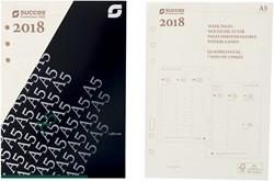 Agenda calendarium 2019 Succes A5 148x210mm 7 dagen per 2 pagina's cremekleurig in cellofaan XEQ7.19.