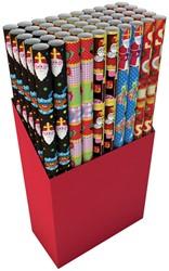 Sinterklaaspapier 70cm x 200cm assorti kleuren.