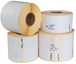 Etiket 54x101mm verzendetiket wit 220 stuks (Dymo 99014 compatible).