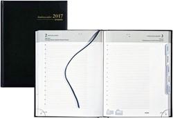 Agenda 2018 Brepols Ambassador 1 dag per pagina 17,5x22cm met maandtabs omslag zwart wit papier (0.116.1256.01.6.0).