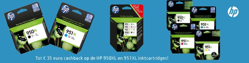 HP 950/951XL Originele Inktcartridges cashback
