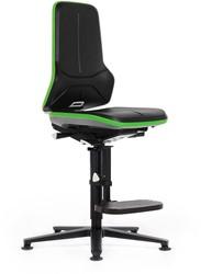 Bedrijfsstoel Neon 3 hoog - 956 stootrand neon groen.