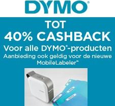 Tot 40% cashback op alle Dymo producten!
